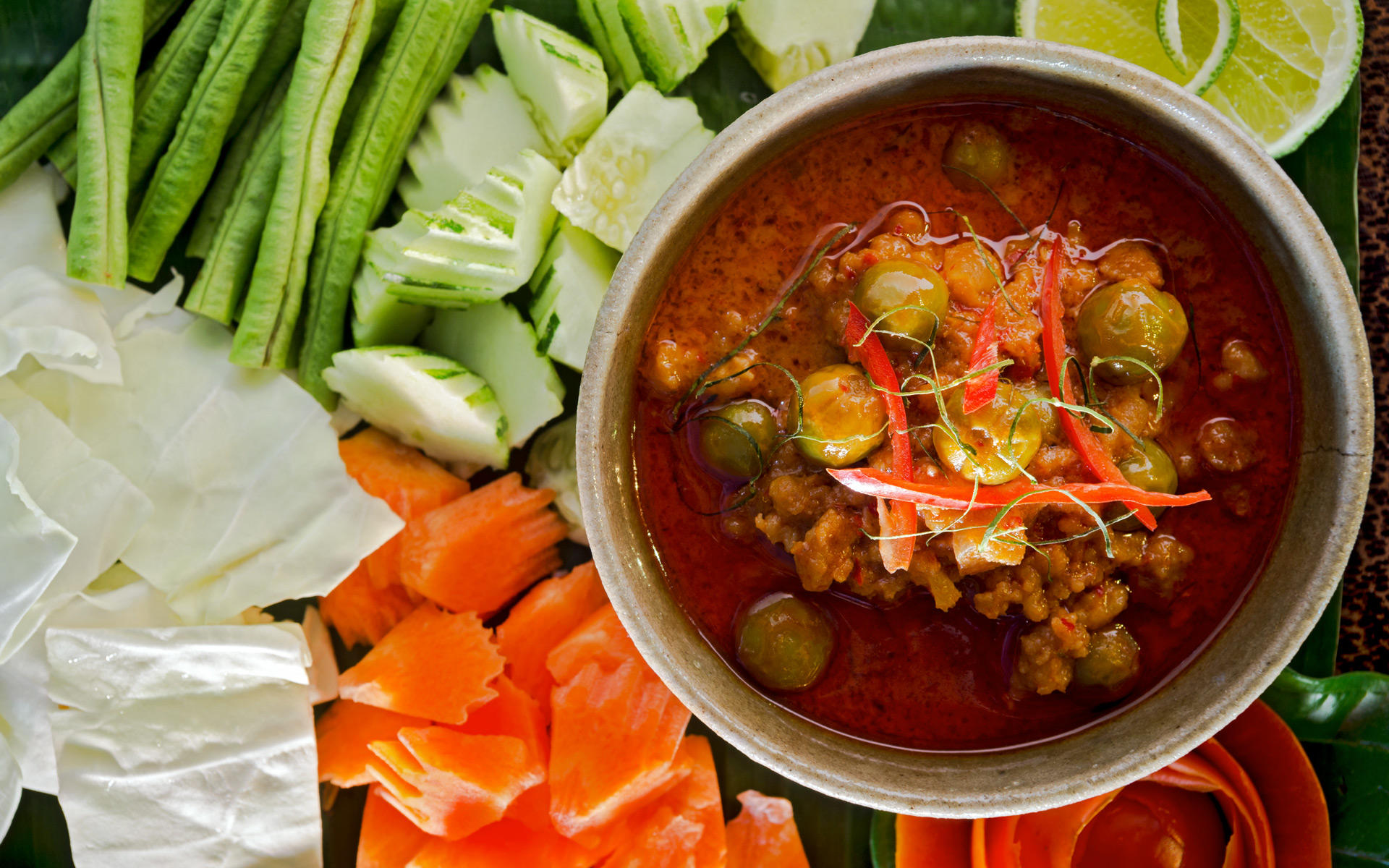 Prahok Kh'Tih. The Sugar Palm Restaurant & Bar. Authentic Cambodian food by chef Kethana with locations in Phnom Penh & Siem Reap, Cambodia.